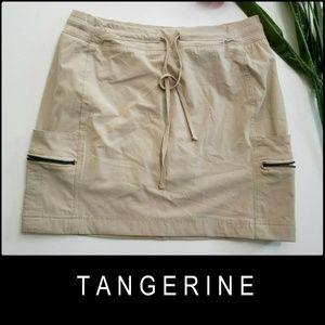Tangerine Woman Cargo Short Skort Medium Khaki